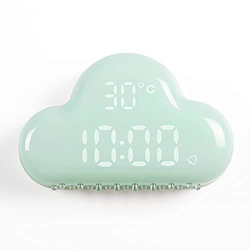 LOTOS - Réveil numérique à DEL Cloud Shape avec horloge intelligente Snooze et affichage DEL intelligent,Blue