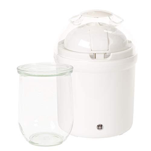 True Life Joghurtbereiter + Innenbehälter aus Glas, mit Deckel - Joghurt-gläser Glas