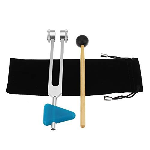 Tutoy 136,1 Hz Yoga Tuning Fork Mit Gürteldeckel Und Hammer Meditation Nerven-Übungswerkzeugen