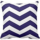 Modern Chevron Stripes in Cobalt Blue and White Throw pillow case 1616