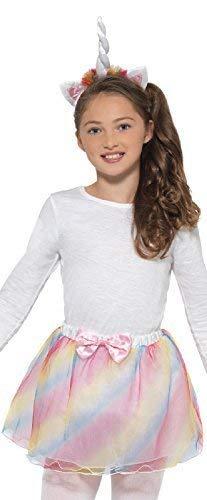 Mädchen Pastell Einhorn Tutu Hupe Fantasie Mythisch Tier Kreatur Karneval Halloween Kostüm Kleid Outfit Satz (Mythische Tier Kostüm)