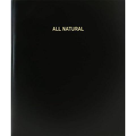 Natural BookFactory/cuaderno/Cuaderno Diario - página 120, 21,59 cm x 27,94 cm, negro tapa dura (XLog - 120-7cs-a-l - negro (todo Natural cuaderno))