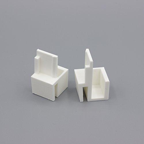Paire de guides blancs compatibles placards Form/Optimum
