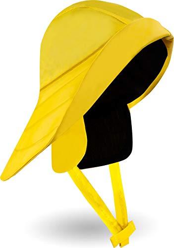 normani Outdoor Sports Regenmütze wasserdichter Regenhut mit Baumwollfutter und Sturmband im Südwester Stil Farbe Gelb (Regen Hut)