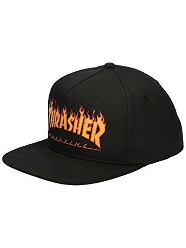 Gorra Thrasher Flame Logo Structured Snapback Black