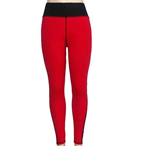 Yaoaomitn Donne Allenamento Net Filato Splicing Leggings Sportivi Pantaloni Stripes Vita Alta Legging Elastico Casual per Lo Sport Fitness Yoga