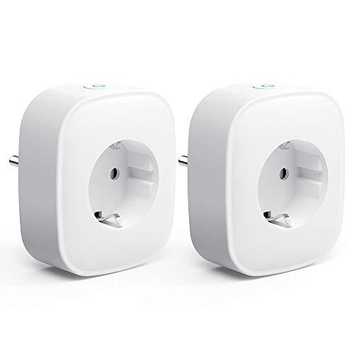 WLAN Smart Steckdose Intelligente Plug, Aoycocr WiFi Smart plug Stromverbrauch messen, Wifi Stecker Kompatibel mit Alexa und Google Home,IFTTT, Fernsteurung, Timer Funktion, ohne Hub 2pack