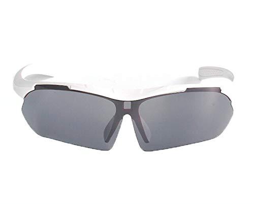 Coniea Arbeitsbrille Polarisierend TPU+PC Motorrad Brille Damen Outdoorbrille Weiß Grau