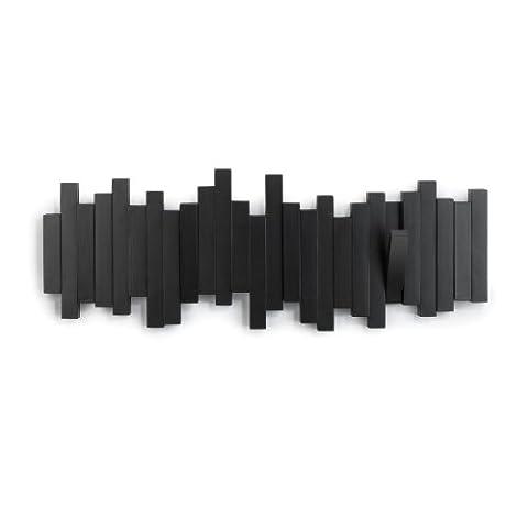 Umbra 318211-040 Sticks patère multi-crochets noire plastique 48 x 18 cm