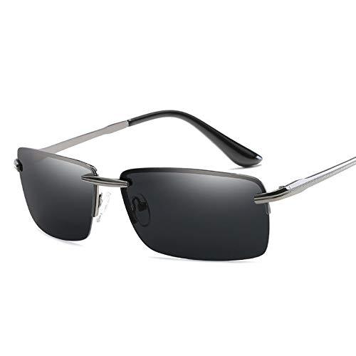 WDDYYBF Sonnenbrillen, Männer Sonnenbrille Sonnenbrille Fahren Männer Classic Low Profile Sonnenbrillen Für Männer Im Freien Uv400 Gun Grau