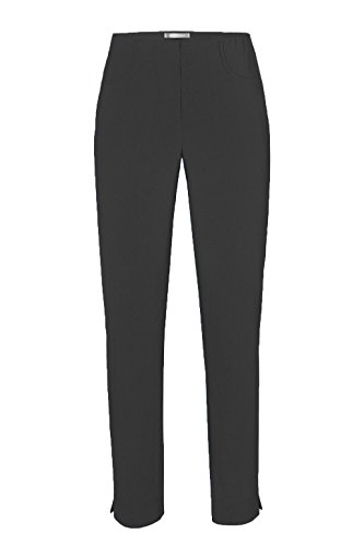 Stehmann - Stretchhose LOLI782 - mit EXTRA-Fashion Armreif - die lange, schmale Hose - WINTERWARM!! - Gerade Pull-On Hose mit Schlitz, , Hosengröße:46, Farbe:Schwarz (Schlitz Hose Gerade)
