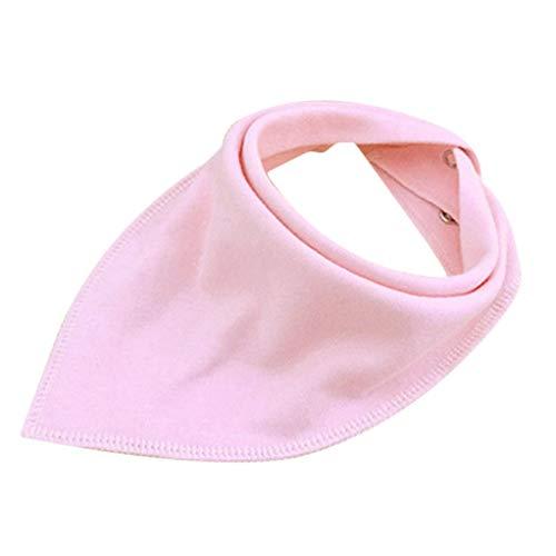 SEVENHOPE Spucktücher verstellbare Baby Bib Baumwolle Serviette junge Mädchen Bandana Kleinkind Lätzchen Comfy sabbern Zahnen Neugeborenen Lätzchen (Pink) (Baumwolle Bandana Servietten)