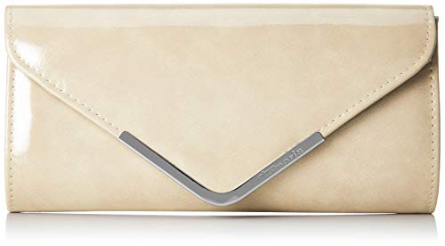 Tamaris Damen Brianna Clutch Bag, Beige (Cream), 5x12x26 cm