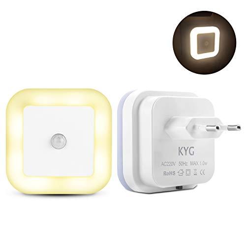 LED Nachtlicht mit Bewegungsmelder Warmweiß Nachtlicht Steckdosen PIR-Körpersensor AUTO/ON/OFF Led Beleuchtung sensor energiesparend Steckdosenlicht für Kinderzimmer Flur Treppe Badezimmer MEHRWEG