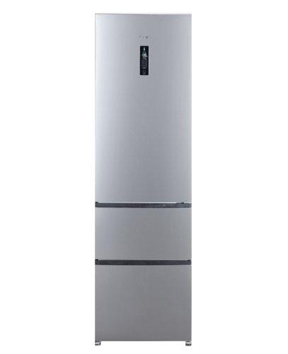 Haier A2FE635CSJ Kühl-Gefrierkombination, freistehend, 347 l, A +, Silber, Kühlschrank+Gefrierschrank (347l, Frostfrei (Kühlschrank), SN-T, 12kg/24h, A+, Silber).