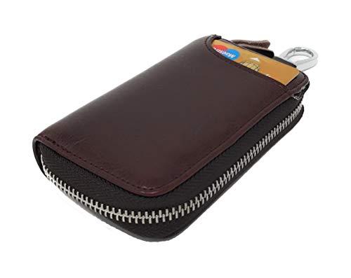 24a3ef78e5 Portafoglio chiave Portachiavi Portafoglio con Cerniera Astucci Portachiavi  in Vera Pelle per portafogli da Uomo e