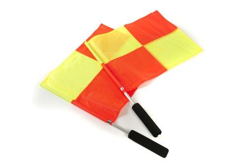 Mitre Aliminium Handle Linienrichterfahne, Red/Yellow, One Size