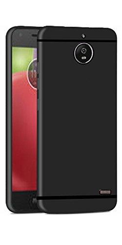 DigiPrints TPU Sleek Matte Back Cover for Motorola Moto E4 (Black)