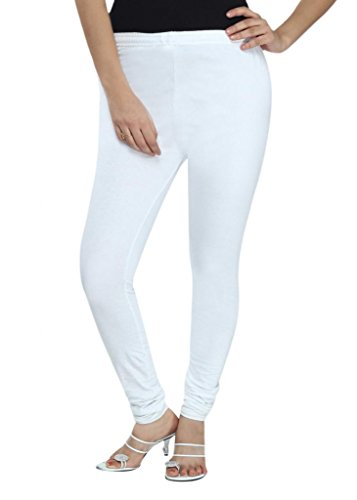 Fexy Women's Plain / Solid Leggings (MTW21TS1_White_XXarge)