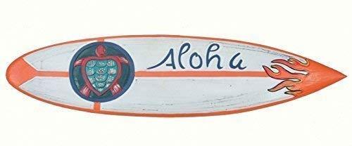 Interlifestyle Aloha Surfboard mit Schildkröte Deko Surfbrett 100cm Hawaii Holzschild