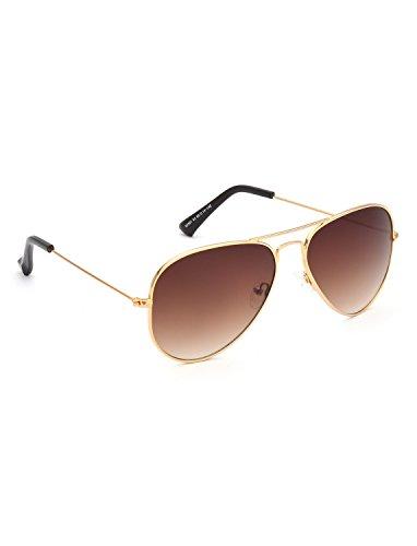 IDEE Gradient Aviator Unisex Sunglasses - (IDS2301C2SG|58|Brown Grdient Color) image