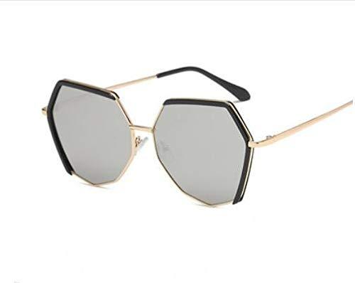 KOMNY Nueva Moda Gran tamaño poligonal gafas de sol de Moda para Mujeres y Hombre lente polarizadas TR90 Ultra ligero gafas, E