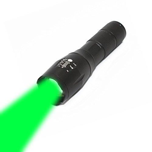 KC Fire Grün Light LED-Taschenlampe mit 5Modelle zoombaren Objektiv, 1000Lumen Beam Taschenlampe LED Taschenlampe Handheld-Licht Laterne für Wandern Jagd Angeln Camping