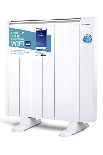 Orbegozo RRW 1200 - Emisor térmico bajo consumo Wi-Fi, 1200 W, pantalla digital LCD, programable, conexión...