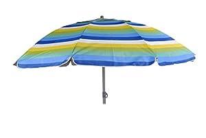 Safari Parasol policot.Rayas con protec UV.Vent.200 cm 43314