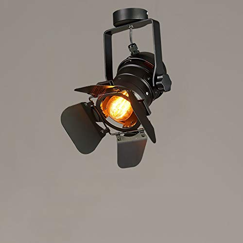 Moliay American Vintage Iron Metal LED Lámpara de Techo E27 Edison Foco...