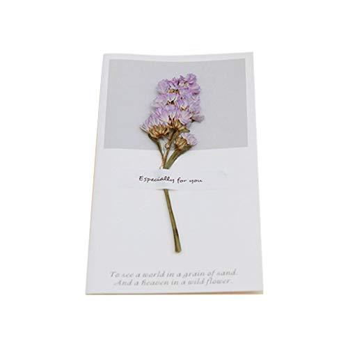 Censhaorme Hochzeit Trockenblumen Einladungen Postkarten Hochzeit Geburtstags-Party-Festival Grußkarte