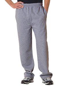Badger Adult Blended Open-Bottom Fleece Pants (Oxford) (Large) - Fleece Open Bottom Pant