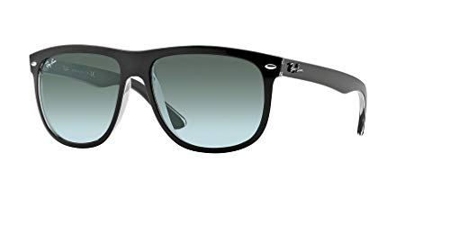 Ray-Ban RB4147 603971 60M Top Black On Transparent/Grey Gradient Dark Grey Sunglasses