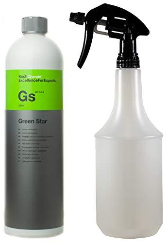Koch Chemie Green Star Universalreiniger innenreiniger und aussenreiniger Autopflege Profi Set mit ATOM Sprühflasche