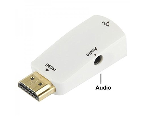 F Cables Kart Finger's HDMI To VGA Converter with Audio Cable (White)