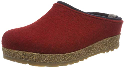 HAFLINGER Unisex-Erwachsene Kris Grizzly Pantoffeln, Rot (Paprika 42), 39 EU