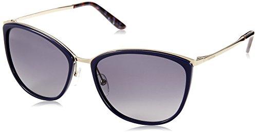 Max mara mm classy i hd mpm 58, occhiali da sole donna, blu (lt gold bluette/grey sf)