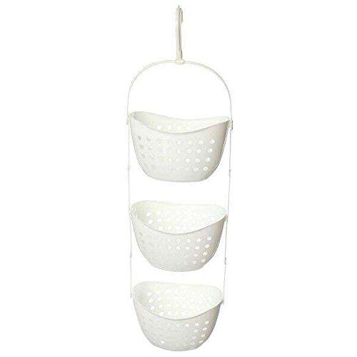 Hensych® Kunststoff 3 Ebenen Dusche Caddy Bad Rack Hängen über Korb Dusche Organizer (Rack-Weiß) (Weiß Caddy Kunststoff Dusche)