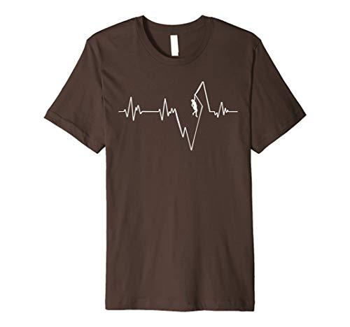 Bergsteiger Klettern Kletterer EKG T Shirt Herzschlag (Shirt Klettern)