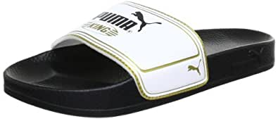 Puma King Top Slide 102553 Unisex-Erwachsene Sandalen, Schwarz (black-white-team gold 01), EU 36 (UK 3) (US 4)