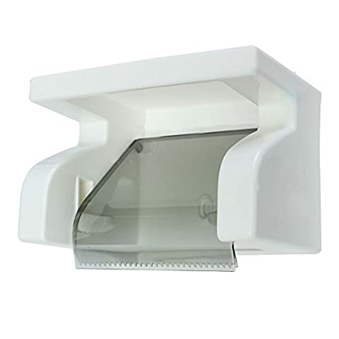 Toilet Paper Holder - SODIAL(R) Waterproof Toilet Paper Holder Tissue Roll Stand Box with Shelf Rack