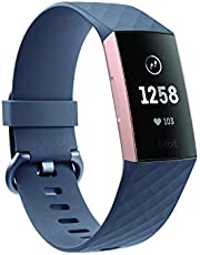 Fitbit Charge 3 Fitness Activity Tracker Rose Gold and Blue