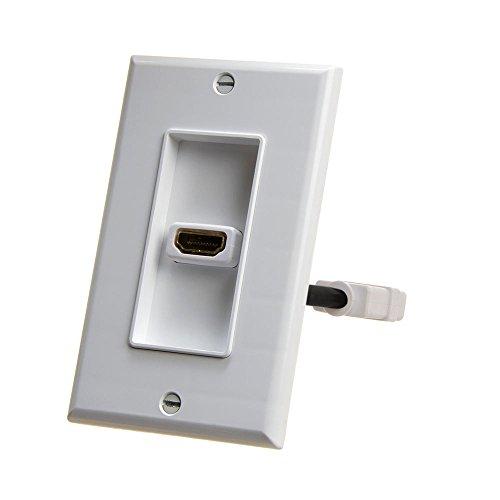 Cmple-HDMI Wall Teller Single HDMI weiß - Hdmi-modular Wall Plate