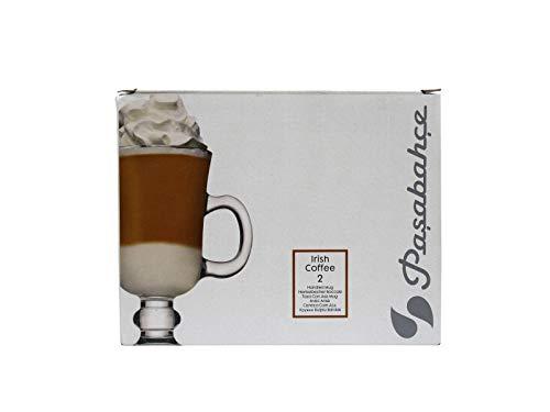 Pasabahce, Irish Coffee Gläser 2er Set, in der Box, ca. 230 cc Fassungsvermögen, Henkelbecher, formschön und elegant