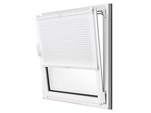 npluseins Plissee - vormontiert und mit Klemmfixierung am Fensterahmen - kinderleichte 3-Step Montage, ca. 55 x 130 cm,...