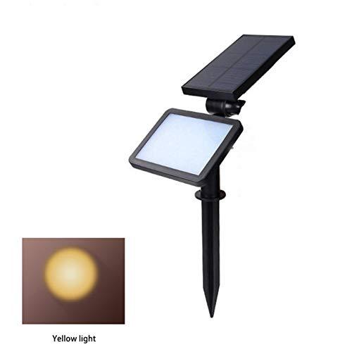 Solar Power Led Suchscheinwerfer Garten Rasen Lampe Landschaft Lichter Outdoor-Pfad Wasserdicht Spot Glühbirnen Led Gelbes Licht 25,5 * 8,5 * 12,5 Cm
