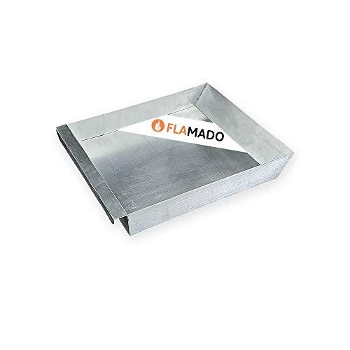 Flamado® Aschekasten 300 x 270 x 45 mm Passend Für Wamsler** Kamine | Ersatzteil Kamin/Kaminofen | Verzinktes Stahlblech Grau