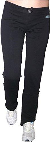 Pantajazz pantaloni vita bassa dritti sigaretta sportivi fitness danza palestra pilates walking cotone elasticizzato donna ragazza (s 40 it donna, nero)