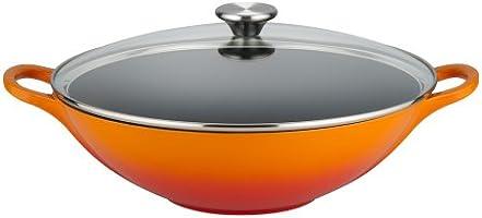 Le Creuset  Pentola in ghisa con coperchio in vetro,  32 cm, colore: Vulcanico