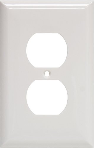 GE 40019 Oversized Duplex Receptacle Wall Plate, White by GE (GEAO7)
